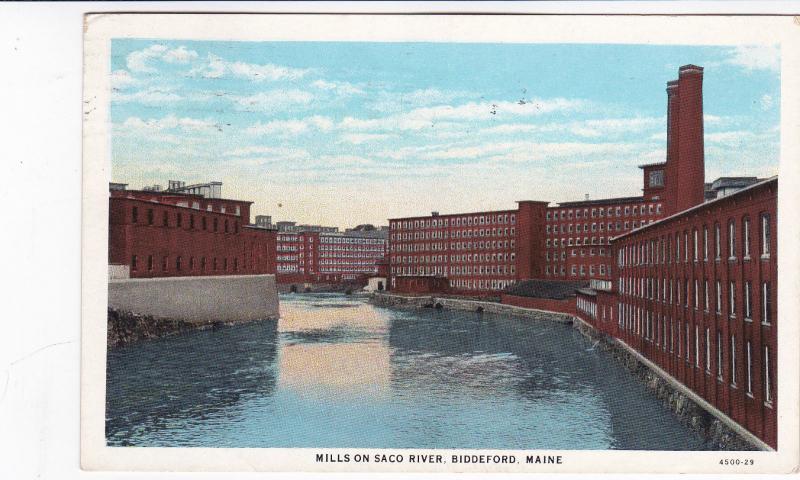 Mills on Saco River , Biddeford , Maine, 1931