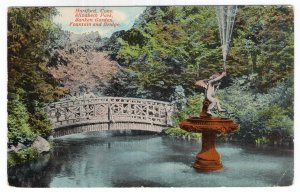 Hartford, Conn, Elizabeth Park, Sunken Garden, Fountain and Bridge