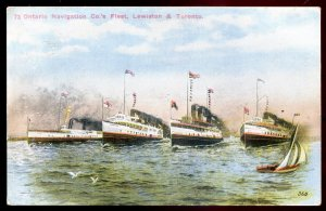 dc1630 - TORONTO & Lewiston Steamers 1930s Ontario Navigation Co. Fleet