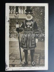 c1932 London: HEAD WARDER IN STATE DRESS, Tower of London YEOMAN