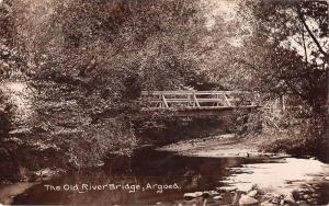 uk12308 old river bridge argoed wales  uk