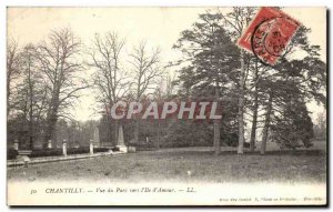 Old Postcard Chantilly View Park towards the Island of love