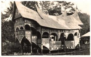 Indonesia Dutch Indies Balai Adat RPPC 02.19