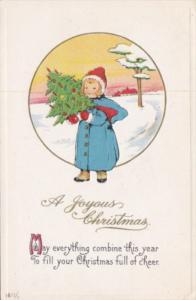 Christmas Young Girl With Tree
