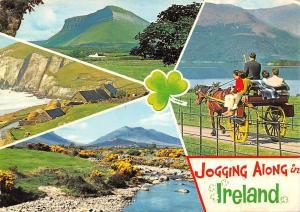 Jogging along in Ireland, Houses Panorama Lake Horse Cart