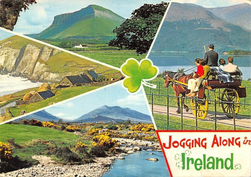 Jogging along in Ireland, Houses Panorama Lake Horse Cart