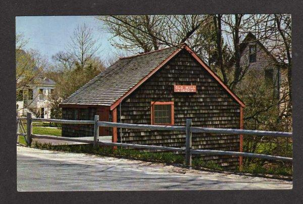 MA Old Stockbridge Mill Grist Mill Greenbush Mass Massachusetts Postcard PC