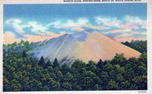 Marvin Slide Moving Dune South Of South Haven Michigan Linen Vintage Postcard