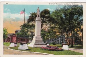 Pennsylvania Rochester Soldiers Monument and Park Curteich