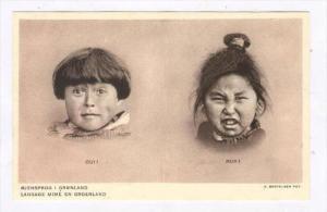 Greenland, 1920s  Ojensprog i Gronland , Langage Mime en Groenland