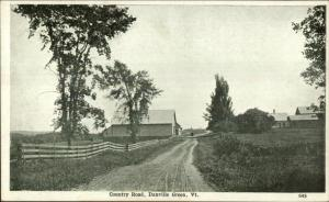 Danville Green VT Country Road c1905 UDB Postcard