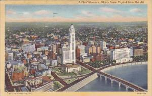 Ohio Columbus Ohios State Capitol From The Air 1947
