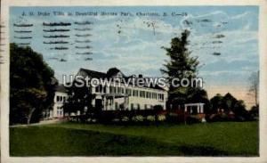 J. B. Duke Villa in Beautiful Meyers Park Charlotte NC 1924