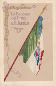 Flag, La Bandiera Dell' Arma d'Artiglieria, 1° Gennaio 1919, Italy