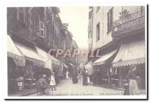 COPYRIGHT Limoges Postcard Old Street butcher
