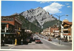 Banff Avenue - Banff AB, Alberta, Canada - Stoney Squaw Mt and Cascade Mt