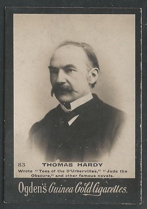 Ogden's Guinea Gold THOMAS HARDY Cigarettes Card. Few small faults