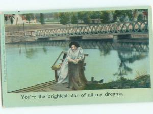 Divided-Back PRETTY WOMAN Risque Interest Postcard AA8005