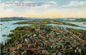 WA - Seattle. 1909 Alaska-Yukon Pacific Exposition. Aerial View