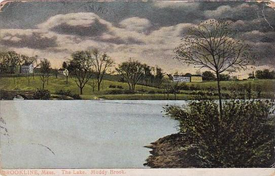 Massachusetts Brookline The Lake Muddy Brook 1917