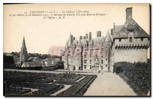 Old Postcard Langeais I and L Chateau XV century and was celebrated December ...