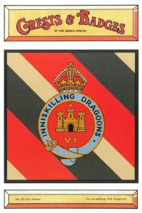 Postcard Armed Forces The Inniskillings 6th Dragoons Crest Badge No.22 NEW BL22