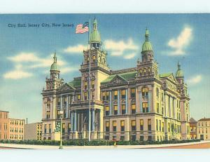 Unused Linen CITY HALL SCENE Jersey City New Jersey NJ hs5861