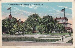 ST. PETERSBURG, Florida, 1900-10s; Manhattan Hotel & Grounds