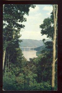 Hinton, West Virginia/WV Postcard,Bluestone Reservoir & Bridge, State Park