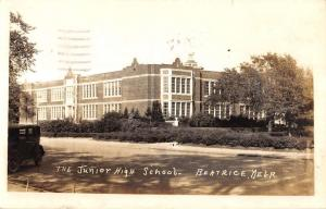 Beatrice Nebraska Junior High School Real Photo Antique Postcard K15913