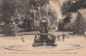 CHAUMONT, France, 1900-10s, Square du Boulingrin, la Fontaine