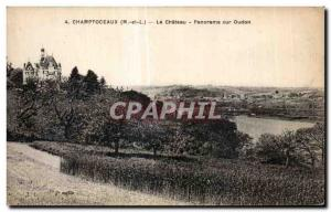 Old Postcard Champtoceaux (m and L) The Chateau Panorama on Oudon
