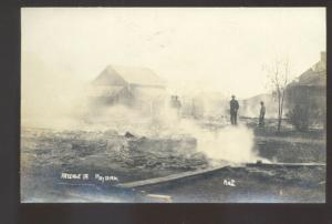 RPPC AREDALE IOWA FIRE DISASTER 1910 RUINS VINTAGE REAL PHOTO POSTCARD