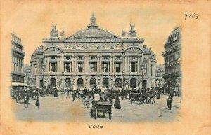 PARIS FRANCE~L'OPERA~1900s RELIEF PHOTO POSTCARD
