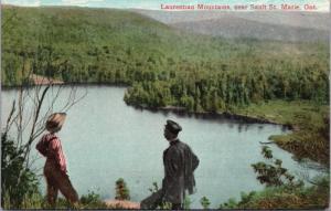 Laurentian Mountains near Sault Ste Marie Ontario ON Ont. Vintage Postcard D42