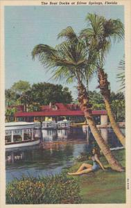 Boat Docks At Silver Springs Florida Curteich