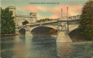 Emrichsville Indianapolis Indiana: Beaux Arts Bridge in Summer, 1946 Linen