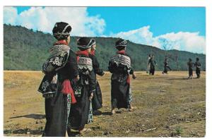 Northern Laos Yao Tribal Women Traditional Dress Postcard