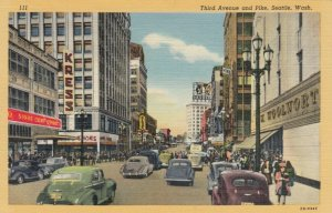 SEATTLE, Washington, 1930-40s ; Third Avenue and Pike