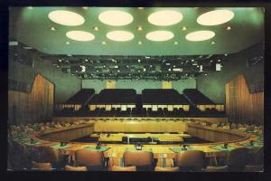 United Nations Postcard, New York/NY,Economic/Social Chamber