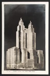 Waldorf Astoria New York 1940 Wm Frange 120 Real Photo
