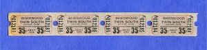 4 Sherwood Twin Drive-In Movie Theatre Tickets, Dayton, Ohio/OH, 1960's?...