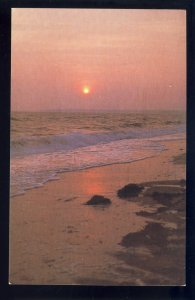 Cape Cod, Massachusetts/MA Postcard, Spectacular Sunset Over Waters Of Cape Cod