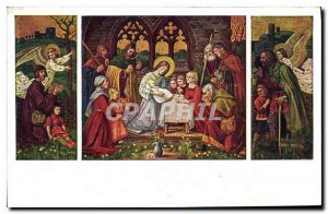 Postcard Old Matt Schiestl Anbetung der Hirten Adoration des Berges