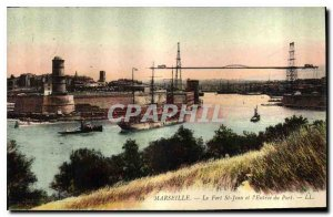 Old Postcard Marseille Fort St John and the Port of Entry