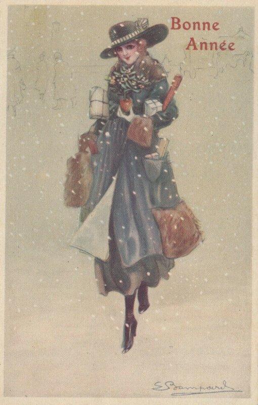 Art Deco ; BOMPARD ; Fashion Woman Portrait #7 , 1921