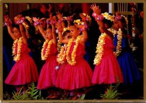 Hawaii Honolulu Young Girls Keiki Hula Halau Brightens May Day Celebration 2009