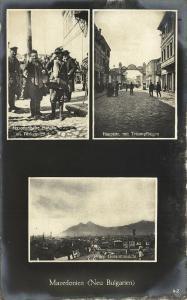macedonia, PRILEP Прилеп, Main Street, Merchants in Turkish Quarter (1915) RPPC