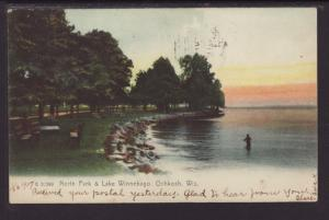 North Park & Lake Winnebago,Oshkosh,WI Postcard
