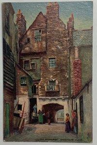 Old Divided Back Postcard Tuck's Oilette, Bakehouse Close, Edinburgh, Scotland